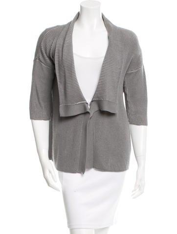 Calvin Klein Collection Cashmere Short Sleeve Sweater None