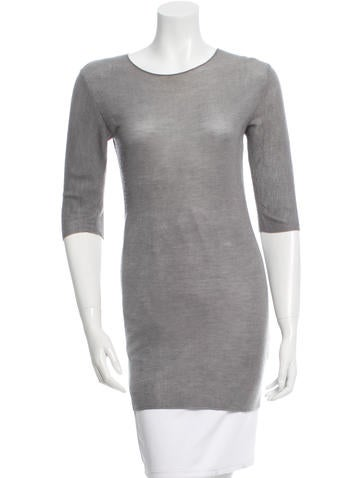 Calvin Klein Collection Cashmere & Silk Sweater Dress None