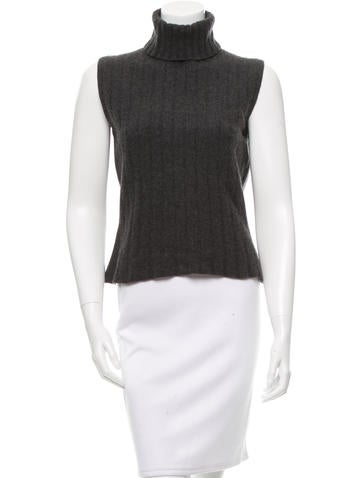 Calvin Klein Collection Wool-Blend Turtleneck Top None