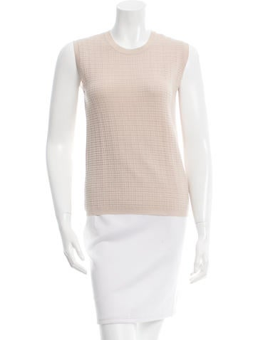 Calvin Klein Collection Sleeveless Wool Top None