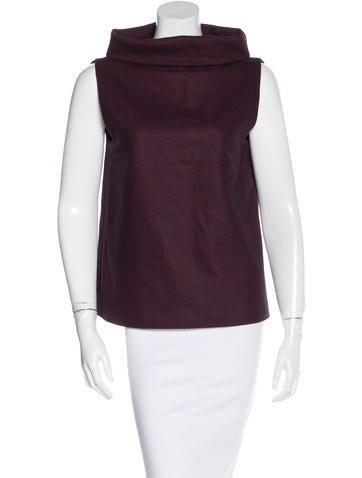 Calvin Klein Collection Virgin Wool Sleeveless Top None