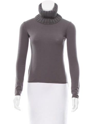Calvin Klein Collection Wool Cowl Neck Sweater None