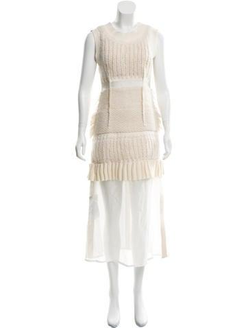 Calvin Klein Collection Knit Sleeveless Dress None