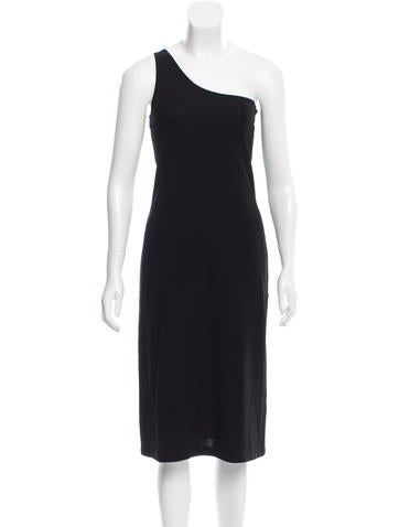 Calvin Klein Collection One-Shoulder Midi Dress None