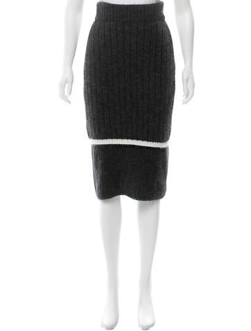 Calvin Klein Collection Knit Midi Skirt None