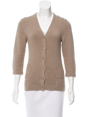Calvin Klein Collection Wool Knit Cardigan None
