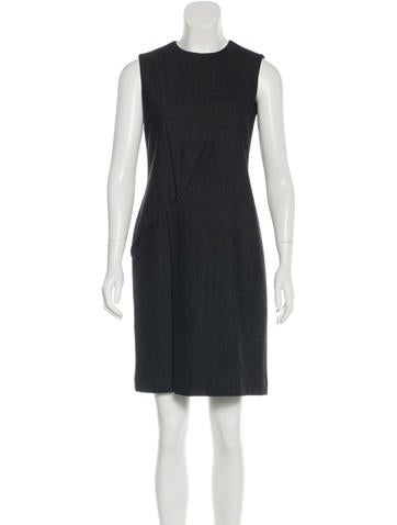 Calvin Klein Collection Wool Sleeveless Dress None