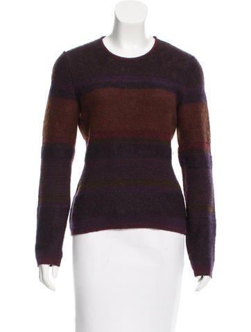 Calvin Klein Collection Knit Striped Sweater None