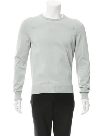 Calvin Klein Collection Mesh-Trimmed Long Sleeve Sweater None
