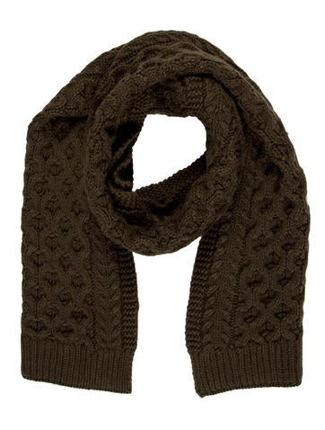 Calvin Klein Collection Cable Knit Scarf None