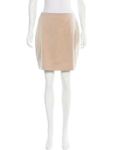 Calvin Klein Collection Silk Mini Skirt None
