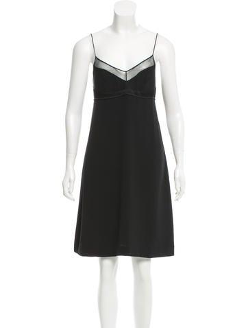 Calvin Klein Collection Sleeveless Mesh-Paneled Dress None
