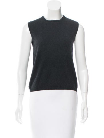 Calvin Klein Collection Cashmere Sleeveless Sweater None