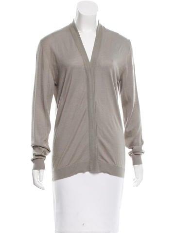Calvin Klein Collection Silk-Blend Cardigan None