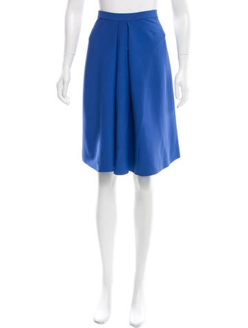 Calvin Klein Collection Pleated Knee-Length Skirt None