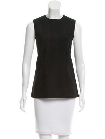 Calvin Klein Collection Textured Sleeveless Top None
