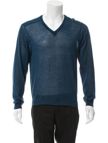 Calvin Klein Collection V-Neck Wool-Blend Sweater None