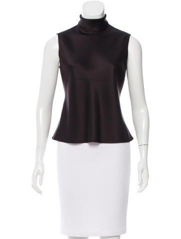 Calvin Klein Collection Silk Sleeveless Top None