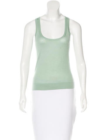 Calvin Klein Collection Cashmere & Silk Top None