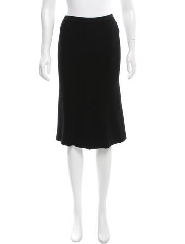 Calvin Klein Collection Knit Knee-Length Skirt None