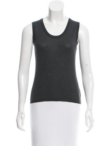 Calvin Klein Collection Cashmere & Silk-Blend Top None