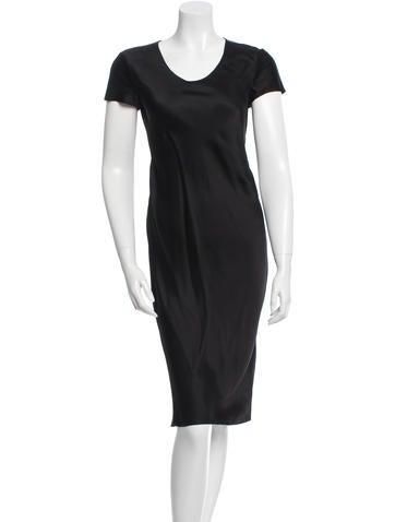 Calvin Klein Collection Short Sleeve Midi Dress None