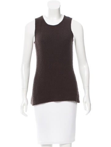 Calvin Klein Collection Cashmere Bouclé Top None
