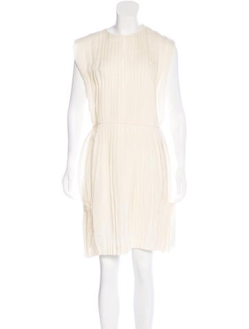 Calvin Klein Collection Pleated Knee-Length Dress w/ Tags