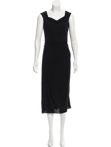 Calvin Klein Collection Draped Midi Dress None