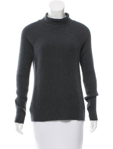 Calvin Klein Collection Mock Neck Cashmere Sweater None