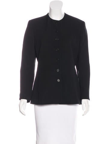 Calvin Klein Collection Silk Structured Jacket None
