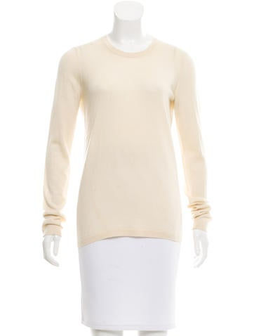 Calvin Klein Collection Long Sleeve Scoop Neck Sweater None