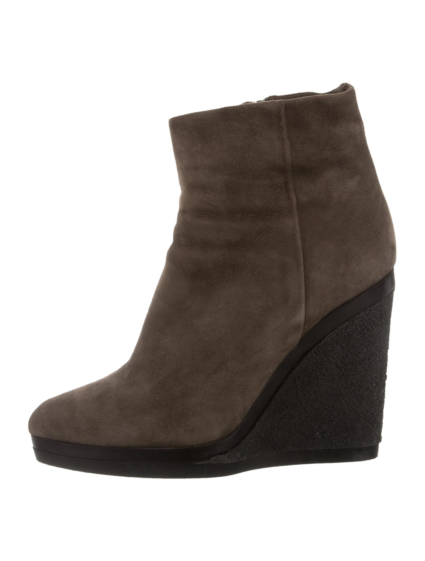 calvin klein collection suede wedge ankle boots shoes