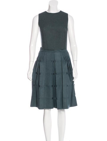 Calvin Klein Collection Wool Cutout Skirt Set w/ Tags None
