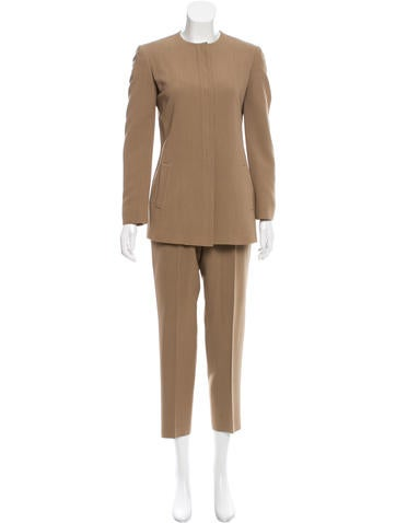 Calvin Klein Collection Wool-Blend Cropped Pantsuit None