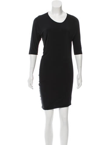 Calvin Klein Collection Asymmetrical Scoop Neck Dress None