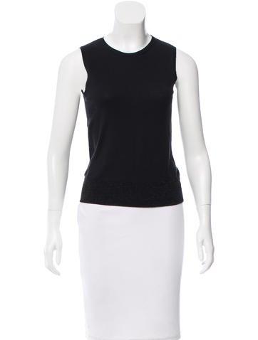 Calvin Klein Collection Metallic-Accented Sleeveless Sweater None