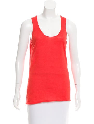 Calvin Klein Collection Sleeveless Cashmere Top None