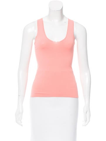 Calvin Klein Collection Sleeveless V-Neck Top None
