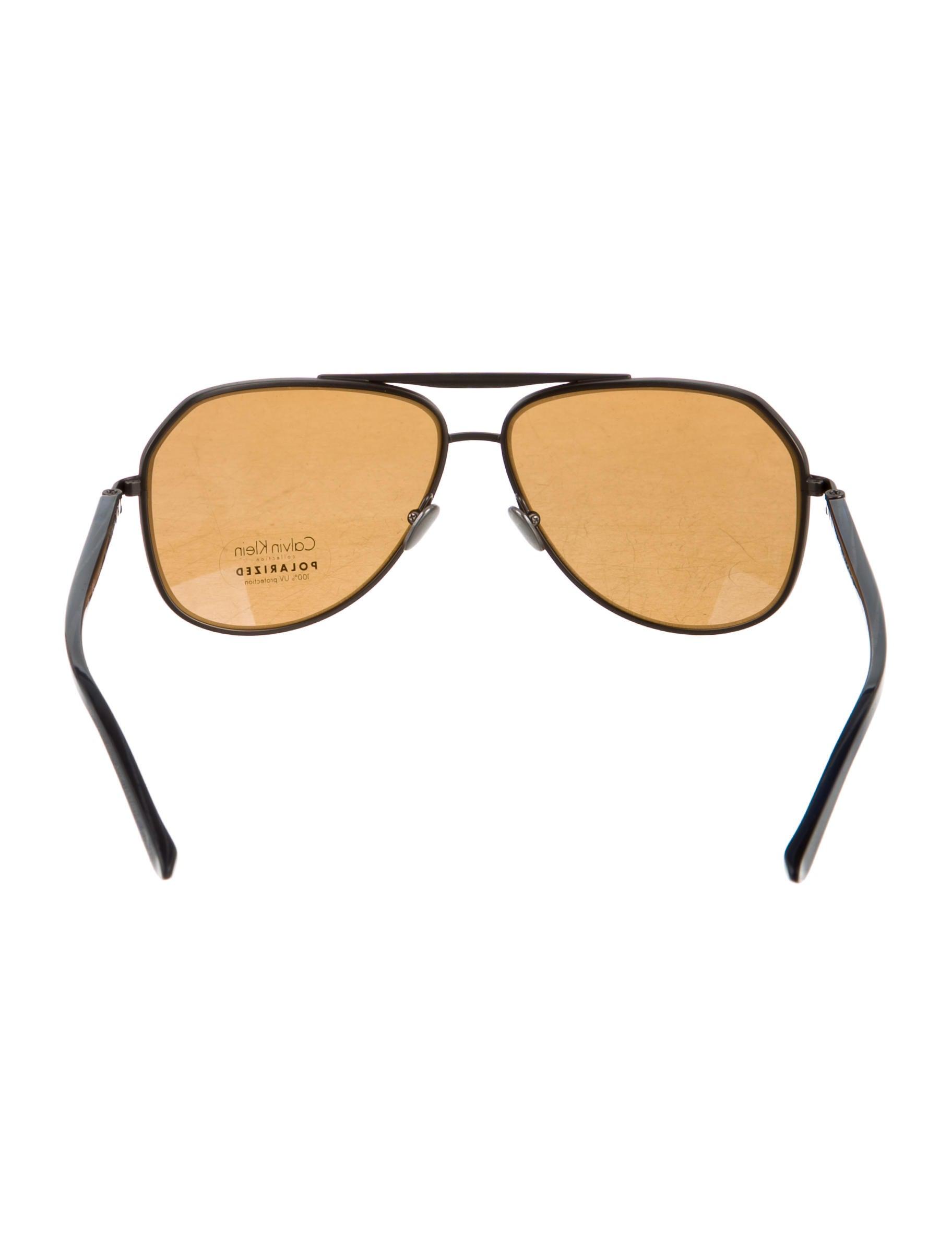 8b7aa4e4dc5 Calvin Klein Polarized Aviator Sunglasses