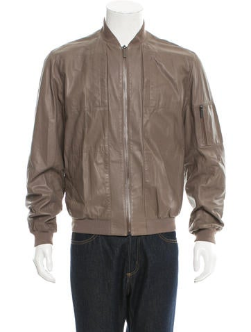 Calvin Klein Collection Leather Bomber Jacket None