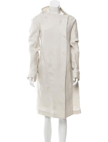 Calvin Klein Collection Collarless Silk Jacket w/ Tags None