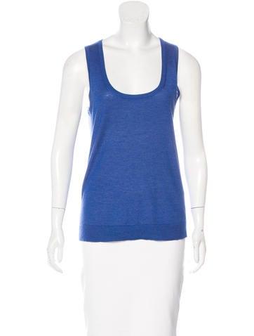 Calvin Klein Collection Cashmere & Silk-Blend Sleeveless Top None
