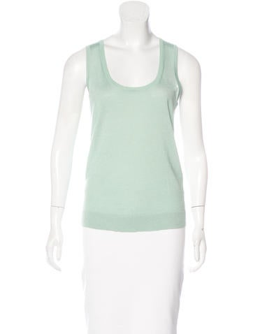 Calvin Klein Collection Cashmere & Silk Top None