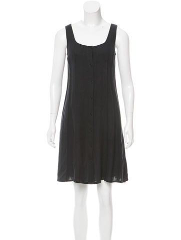 Calvin Klein Collection Sleeveless Linen Dress None