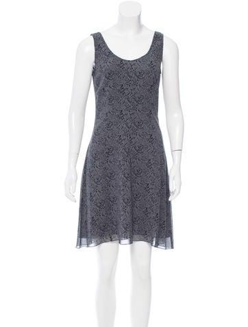 Calvin Klein Collection Printed Silk Dress None