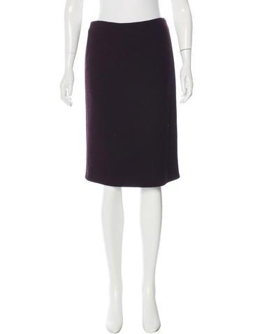 Calvin Klein Collection Wool Pencil Skirt None