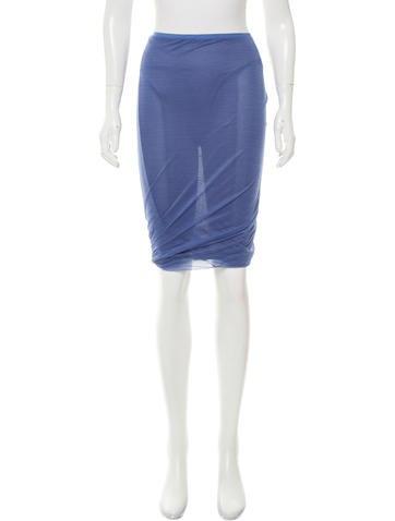 Calvin Klein Collection Silk Knee-Length Skirt None