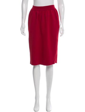 Calvin Klein Collection Wool Knee-Length Skirt w/ Tags None