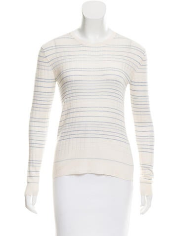 Calvin Klein Collection Striped Crew Neck Sweater None